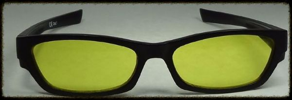 Standard Yellow  x 2 glasses suitable for age 10 upwards
